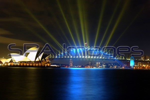 Sydney Harbour Bridge Night Scape 150104D-1163_RJ.JPG